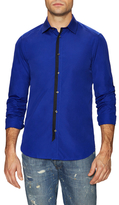 Kenzo Spread Collar Contrast Placket Sportshirt