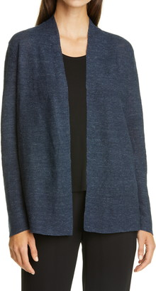 Eileen Fisher Open Front Organic Cotton Cardigan