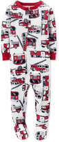 Carter's Baby Boys' 1-Pc. Firetruck-Print Footed Pajamas