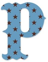 "Wall Candy Arts WallCandy Arts WallCandy Luv Letters Stars Letter ""P"" Wall Decal in Blue"