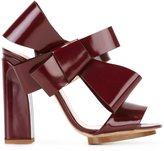 DELPOZO bow applique sandals - women - Leather - 37