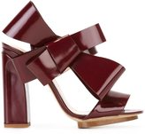 DELPOZO bow applique sandals