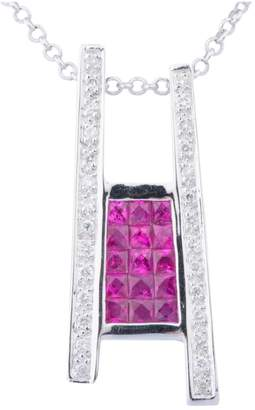 Rubis Non Signé / Unsigned Non Signe / Unsigned Pink White gold Necklaces