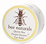 Queen Bee Naturals Best Eye Balm Peeper Keeper - Eyelid Cream Reduces Crows Feet, Wrinkles & Fine Lines - Moisturizes Your Skin - Vitamin E + 10 All Natural Nutrient Oils - 0.6 Oz