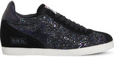 Ash Guepard glitter and suede trainers