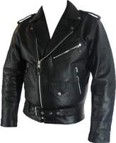 Unicorn London Mens classic Brando Biker style Real Leather Jacket #B2 (6XL)