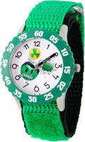 Marvel Emoji Boys Green Strap Watch-Wma000086