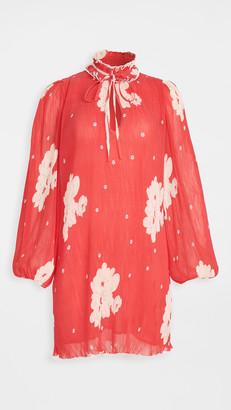 Ganni Pleated Georgette Dress