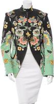 Roberto Cavalli Floral Print Mandarin Collar Jacket w/ Tags