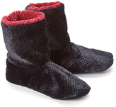 Hanes Black Plush Sherpa-Lined Slipper