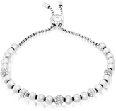 Michael Kors Brilliance Stainless Steel and Crystals Beads Bracelet