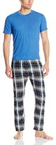 Bottoms Out Men's Woven Pant and Knitted Tee Sleep Set