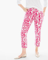 Chico's Grecian Ikat Crop Jeans in Raspberry