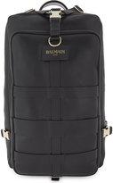 Balmain Black Luxury Nomade Medium Leather Backpack