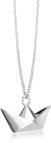 Forzieri Origami Sterling Silver Boat Pendant Necklace