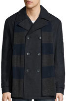 Izod Wool Peacoat with Rugby Scarf