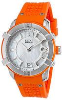 Elini Barokas 20005-02-OS Women's Spirit Orange Silicone Mother of Pearl Dial