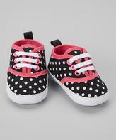 Luvable Friends Black Dot Canvas Sneaker