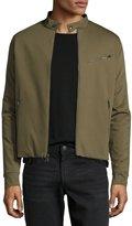 Ralph Lauren Jersey Moto Jacket, Sage Green