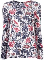 Y's floral pattern jumper - women - Nylon/Wool - 2