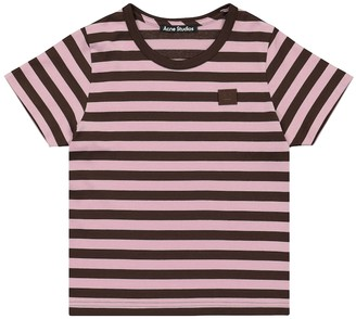 Acne Studios Kids Face striped cotton T-shirt