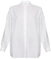 Helmut Lang Open-back cotton-twill shirt