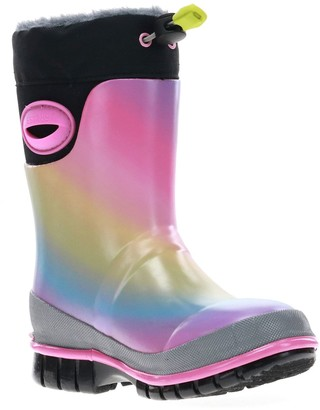 Western Chief Rainbow Toddler Girls' Waterproof Winter Boots