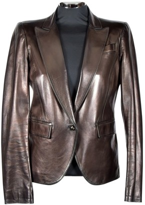 Gucci Brown Leather Coats