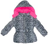 Pink Platinum White Cheetah Puffer Jacket - Infant Toddler & Girls