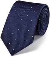 Charles Tyrwhitt Navy silk classic textured dash tie
