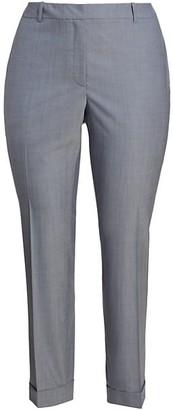 Lafayette 148 New York, Plus Size Clinton Cuffed Wool Pants