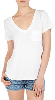 AG Jeans The Pocket V-Neck Tee - White
