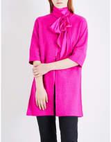 St. John Ladies Light Purple Luxury Knitted Split-Side Coat