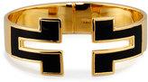 Tory Burch Tunic T Wide Hinge Cuff Bracelet, Black
