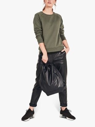 Hush Biker Sweat Top, Khaki