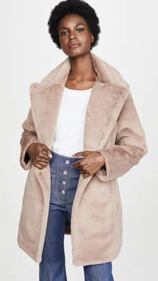AVEC LES FILLES Faux Fur Bonded Peacoat