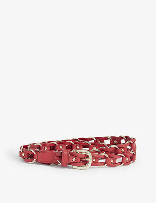Claudie Pierlot Woven leather belt