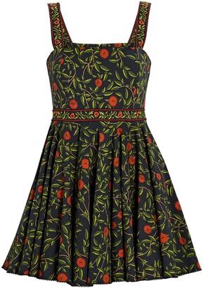 Agua Bendita Azalea Embroidered Floral Mini Dress
