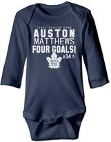 LQOGUE Infant Boys' Auston Matthews Toronto Maple Leafs Royal Four Goals Romper Jumpsuit Bodysuit