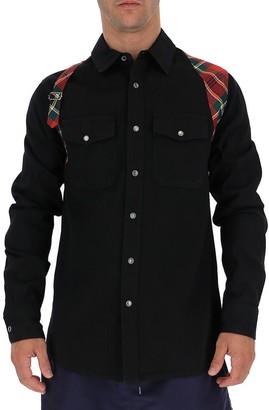 Alexander McQueen Plaid Harness Panelled Shirt