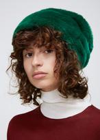 Marni Green Fur Hat