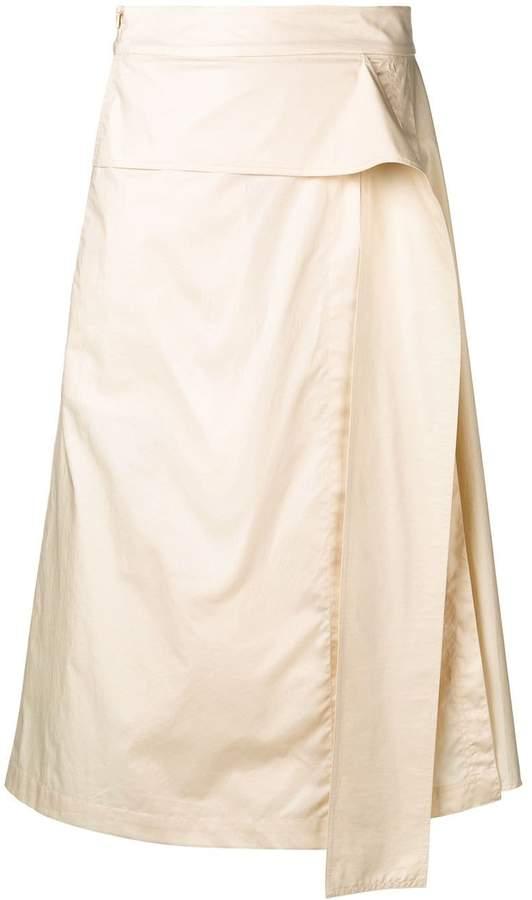 Sportmax cream pleated skirt