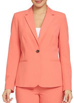 Chaus Long-Sleeve One-Button Blazer