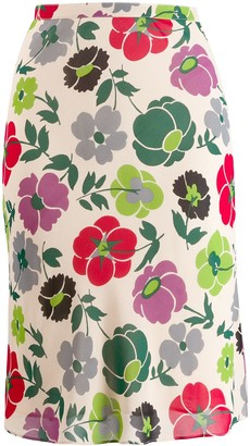 Christian Dior Pre-Owned Floral-Print Pencil Skirt