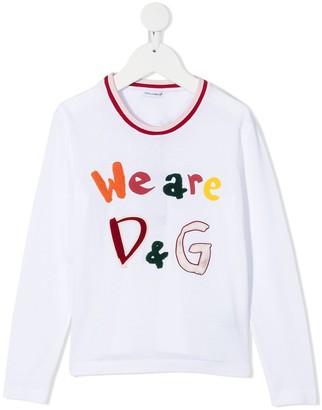 Dolce & Gabbana Kids We Are D&G T-shirt