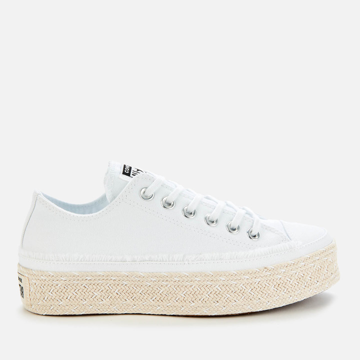 Chuck Taylor All Star Espadrille Ox Trainers WhiteBlackNatural