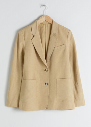 And other stories Oversized Linen Blend Blazer