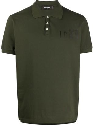 DSQUARED2 Icon slogan cotton polo shirt