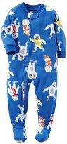 Carter's Little Boys' 1-Piece Fleece Footed Pajamas
