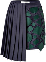 Mary Katrantzou Wool Jumbar Mini-Skirt